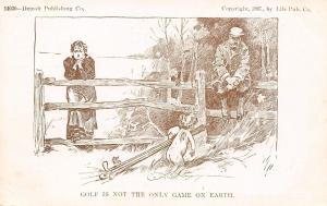 Charles Dana Gibson~Couple Concerns Cupid~Golf Not Only Game~Detroit Pub