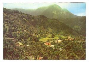 Aerial View, Fond-St-Denis Village, Martinique, France, 50-70s