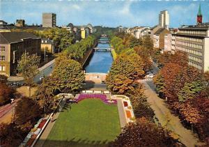Duesseldorf King's Avenue, Koenigsallee Bruecke Bridges Panorama