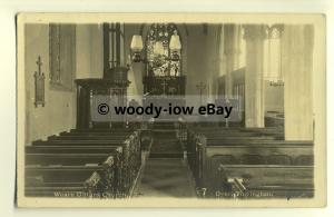 cu1793 -  Inside the Village Church of Weare Giffard c1916, in Devon -  Postcard