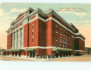 Postcard Opera House Boston Mass 1909 # 1123A