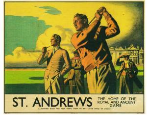 postcard Golf St. ANDREWS / L.N.E.R. POSTER (drive)