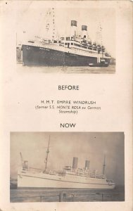 HMT Empire Windrush Ship Unused