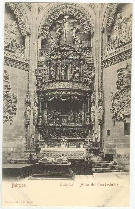 Catedral, Altar Del Condestable, Burgos (Castile-Leon), Spain, 1900-1910s