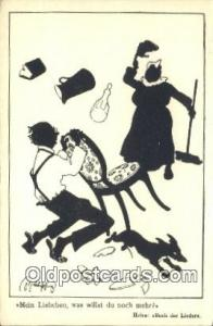 B.K.W.I. 121-11 Silhouette Postcard Post Card Old Vintage Antique  B.K.W.I. 1...