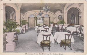 Iowa Des Moines Hotel Savery Florentine Room