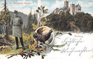 Germany Royalty: Sr. Maj. Kaiser Wilhelm II, Wartburg Castle, Fauna Bird 1908