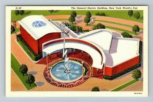 1939 New York World's Fair - The General Electric Building - Linen Postcard