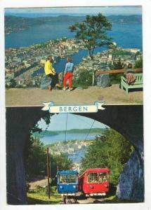 BERGEN, 2-View, Aerial View, Trams, Norway, PU-1987