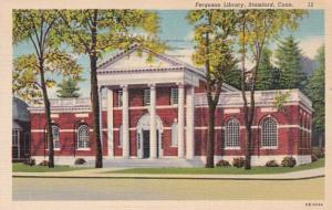 Connecticut Stamford Ferguson Library 1941 Curteich