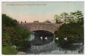 Boston, Mass, The Swans and Bridge, Franklin Park