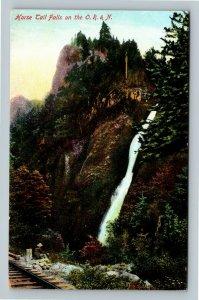 Horse Trail Falls Mountain Railroad Vintage Portland Oregon Postcard