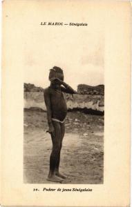 CPA Senegal-Pudeur de jeune Sénégalaise (235338)