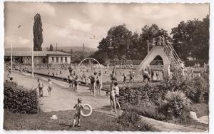 Germany; Weil Am Rhein Swimming Pool RP PPC Unposted c 1950's