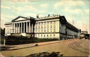 Vtg 1909 Treasury Department Washington DC Postcard