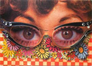 Toyota RAV4 advertising papercut glass eyes postcard