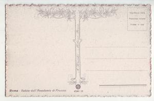 P1039 old art card italy roma. veduta dall, Accademia di francia