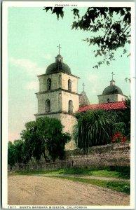 1910s Santa Barbara Mission, CA Postcard Church View Detroit Publishing Unused
