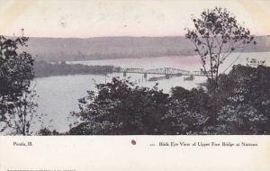 Illinois Peoria Birds Eye View Of Upper Free Bridge At Narroms