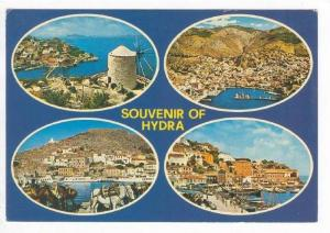 Souvenir of HYDRA, 4-View, Aerial Views, Windmill, Greece, 40-60s