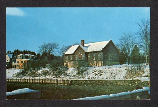 ME View Wilson Museum CASTINE MAINE Postcard PC Carte Postale