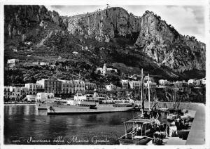 9802 Capri, Panorama della Mazius Grande, Capri Steamship in background