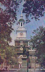 Exterior,Independence Hall, Philadelphia, Pennsylvania,40-60s