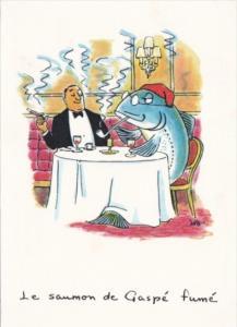 Le saumon de Gaspe fume The Queen Elizabeth Hilton Hotels Montreal Canada