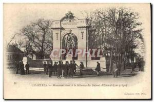 Old Postcard Militaria War 1870 Chartres high monument to the memory of the c...