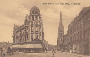 WAKEFIELD , Yorkshire , England, 1900-10s ; Cross Square & Bull Ring ; TUCK 2008
