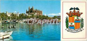 Modern Postcard Catedral Palma de Mallorca Puerto