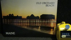 Continental Modern Sunrise Old Orchard Beach Pier Maine Unposted