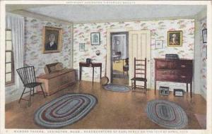 Massachusetts Lexington Munroe Tavern Headqusrters Of CArl Percy On the 191th...