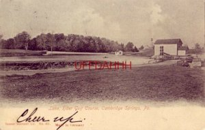 pre-1907 LAKE, RIDER GOLF COURSE, CAMBRIDGE SPRINGS, PA 1906