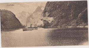 View Card, Steamer/Oceanliner, Troldfjord, Norway, 1900-1910s