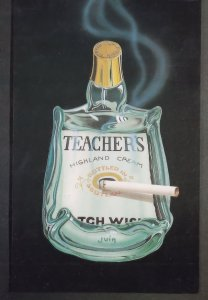 Teachers Highland Cream Scotch Whisky Ashtray Postcard