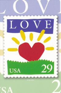 United States 29 Cent Love Stamp 1993