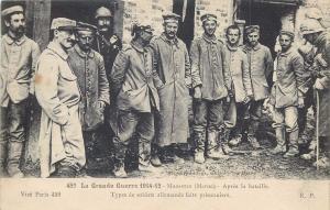WW1 World War One Massiges Marne France german soldiers war prisoners