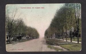 MI Faucher Ave Avenue MT PLEASANT MICHIGAN POSTCARD OLD