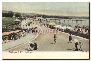 Postcard Old Pier Paignton Esplanade &