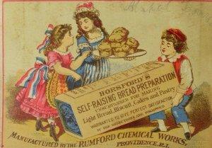 1870's-80's Rumford Chemical Works Horsford's Self-Raising Bread Preparation F94