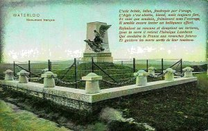 Belgium Waterloo Monument Francais Statue Postcard