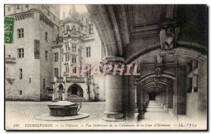Pierrefonds - Le Chateau - Inner View of the Colonnade of the Court & # 39Hon...