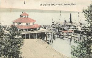Tacoma Washington~Handcolored Pavilion @ Point Defiance Park~1909