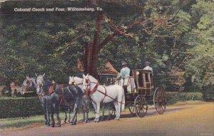 Colonial Coach And Four Williamsburg Virginia