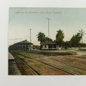 Vintage ~ Entrance to Cristobal , Canal Zone , Panama  ~ Postcard