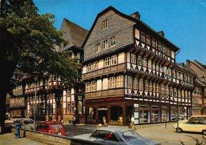 Goslar Harz Markstrasse Street Vintage Cars Postcard