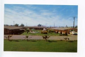 Scottsdale AZ Pool Motel Old Cars Postcard