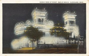 LPS61 CLEVELAND Ohio Euclid Beach Night Scene Postcard