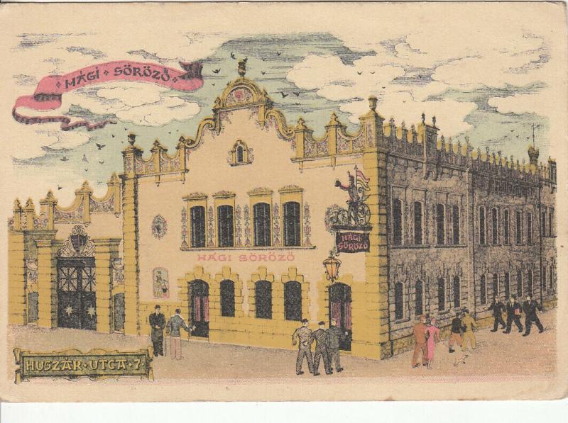 HUNGARY BUDAPEST BEERHOUSE TAVERN INN SALOON HAGI SOROZO Hági Sörözo HUSZAR UTCA